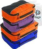 Packing Cubes 4pcs Value Set for Travel - Plus 6pcs Luggage Organiser Zip Bags