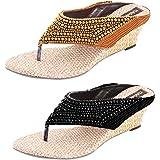 Thari Choice Women's Wedges Sandal Combo Pack