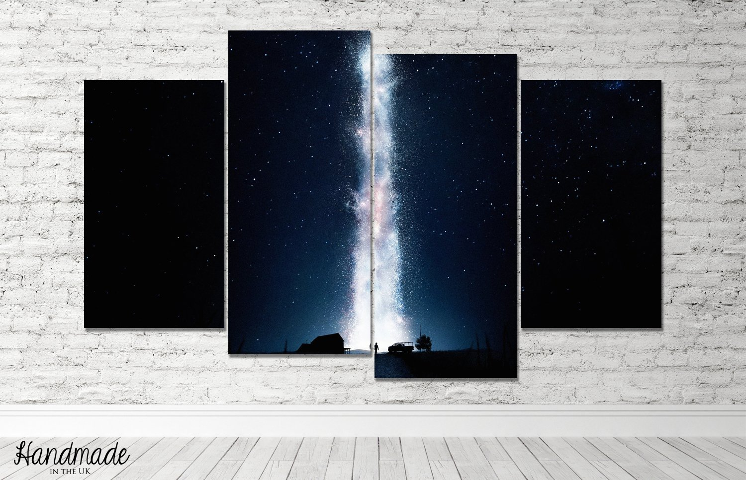 Interstellar Movie Multi Panel Canvas Print Split Wall Art Framed Canvas Handmade Ready To Hang Amazon Co Uk Handmade