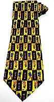 Soie cravate homme avec Golf motifs jaunes