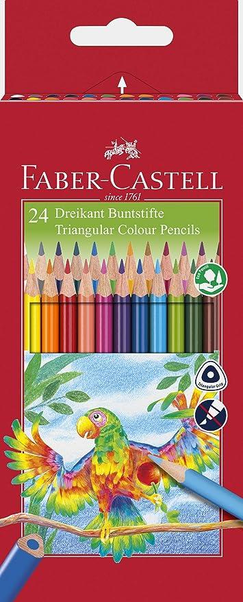 Faber-Castell 116544 - Lápices de colores (24 piezas, caja de ...