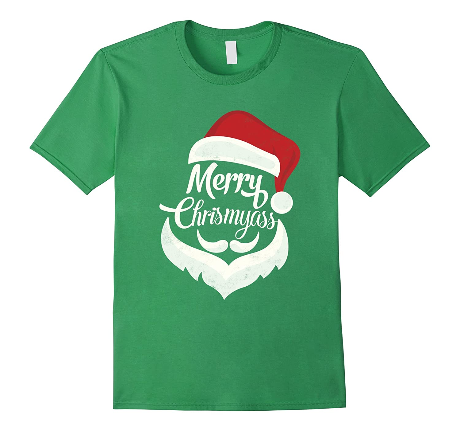 Funny Christmas Shirt Merry Chrismyass Santa Hat Beard-Teevkd