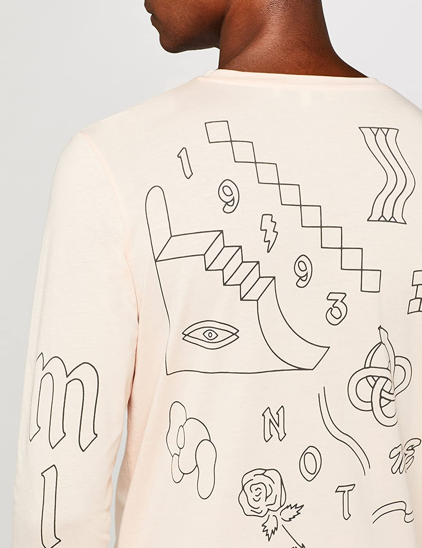 find Brand Mens Open Mind Print T-Shirt