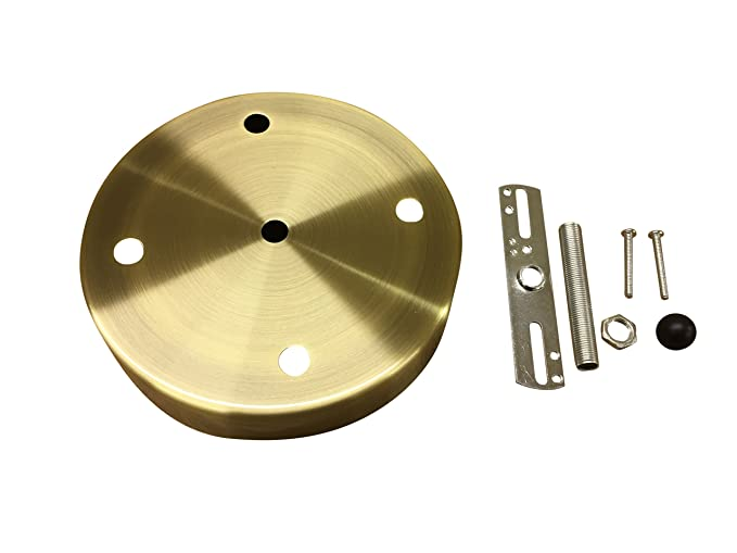 Multi Port Canopy For Diy Chandelier Lighting 6 Diameter 4 Hole Canopy Kit By Industrial Rewind Antiqued Brass