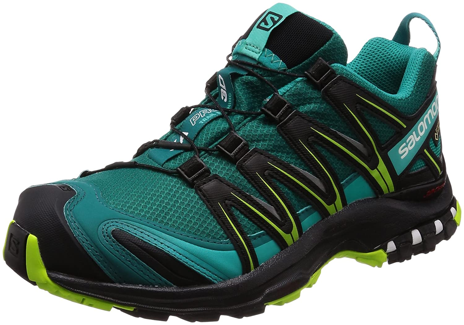 Salomon XA Pro 3D GTX W, Zapatillas de Trail Running para Mujer 38 EU|Azul (Deep Lake/Black/Lime Green)