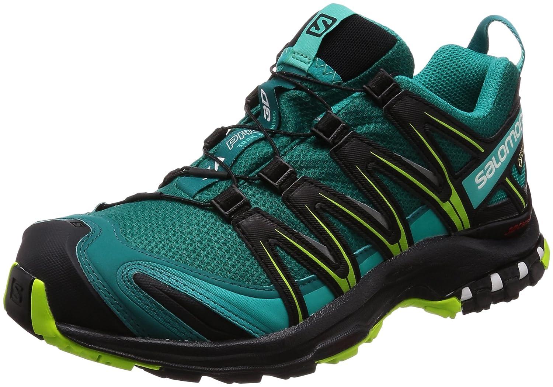 Salomon Femme XA Pro 3D GTX Chaussures de Course à Pied et Trail Running - Mauve/Noir (Acai/Black/Dynasty Green), Pointure: 40