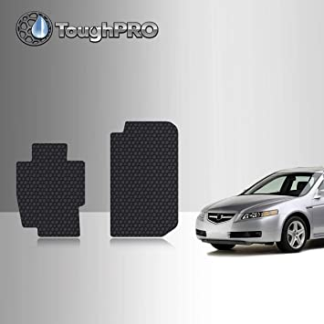 Amazon Com Toughpro Floor Mat Accessories Compatible With Acura Tl All Weather Heavy Duty Made In Usa Black Rubber 2004 2005 2006 2007 2008 Front Mats Automotive