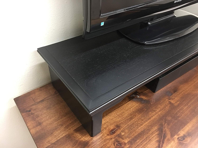 Oak Design Corporation TV Riser Stand Traditional Style Alder Wood in Mocha 38 Wide
