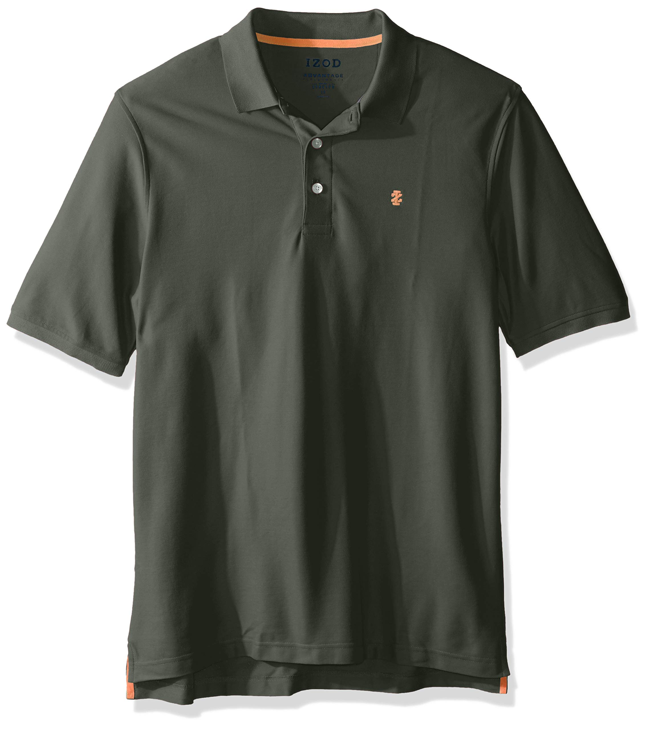 IZOD Men's Big and Tall Advantage Performance Short Sleeve Solid Polo Shirt, thyme, 2X-Large Tall