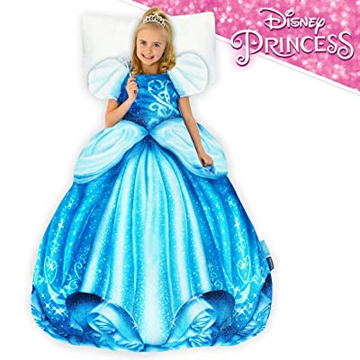 Blankie Tails | Disney Princess Dress Wearable Blanket - Double Sided Super Soft and Cozy Princess Minky Fleece Blanket - Machine Washable Fun Disney Blanket for Kids (Cinderella): Home & Kitchen