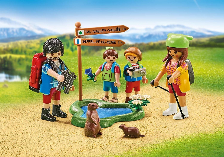 Playmobil 6536. Familia de excursionistas de 4 miembros con ...