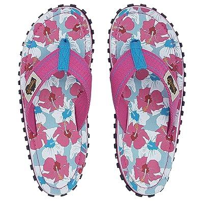 548997ece0df Gumbies - Islander Canvas Flip-Flops - Mixed Hibiscus  Amazon.co.uk  Shoes    Bags