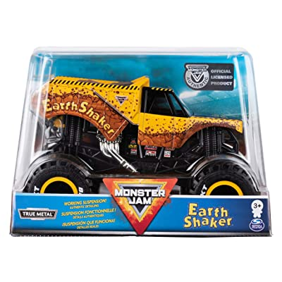 Monster Jam Official Earth Shaker Monster Truck Die-Cast Vehicle, 1:24 Scale: Toys & Games