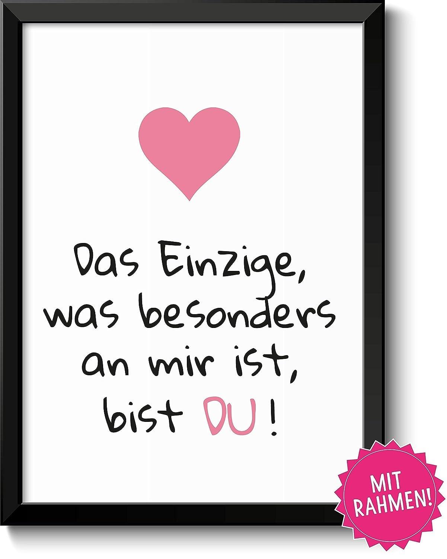Liebeserklärung DU - Geschenkidee Valentinstag Frau Mann - Bild mit ...
