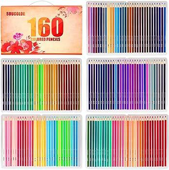 Soucolor 160 Colored Pencils Set Artist Drawing Coloring Pencils