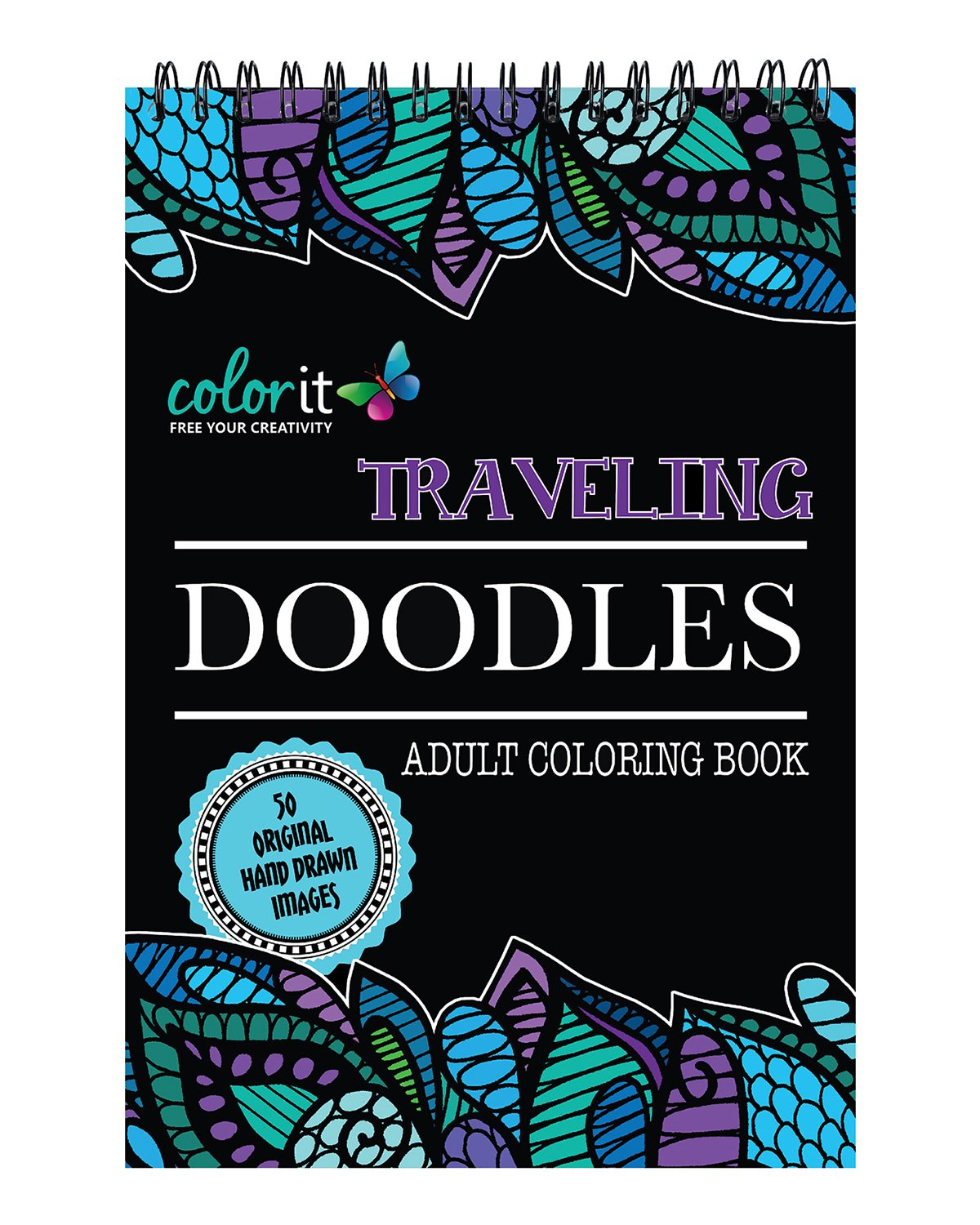 Traveling Doodles Coloring Features Designs product image