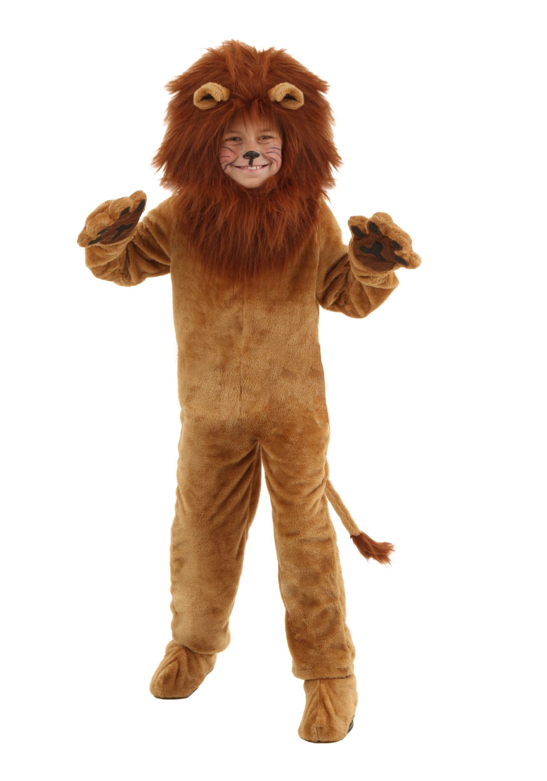 Fun Costumes Child Deluxe Lion Faux Fur Jumpsuit Costume - S