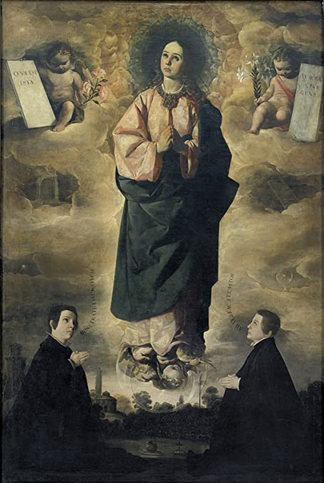 "Francisco de Zurbaran The Immaculate Conception Museu Nacional dArte de Catalunya - Barcelona 30"" x"
