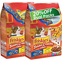 Purina Friskies Tender And Crunchy Dry Cat Food Bag 1.43kg (2 bags)