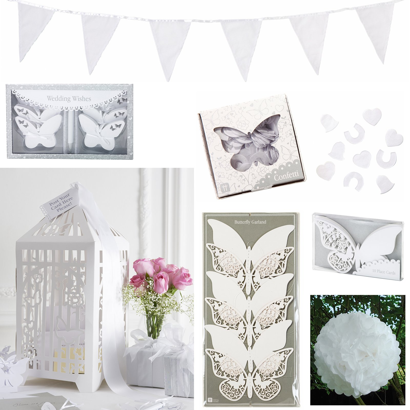 Talking Tables Butterfly Wedding Bundle by Birthday Express Kits
