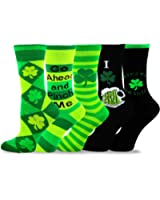 TeeHee St. Patricks Day Cotton Crew Socks Assorted 5-Pair Pack