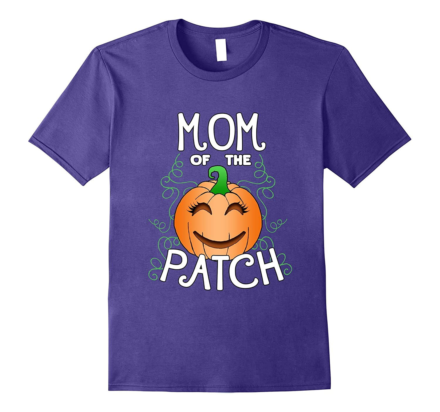 Halloween Pumpkin Mom of the Patch T Shirt-FL