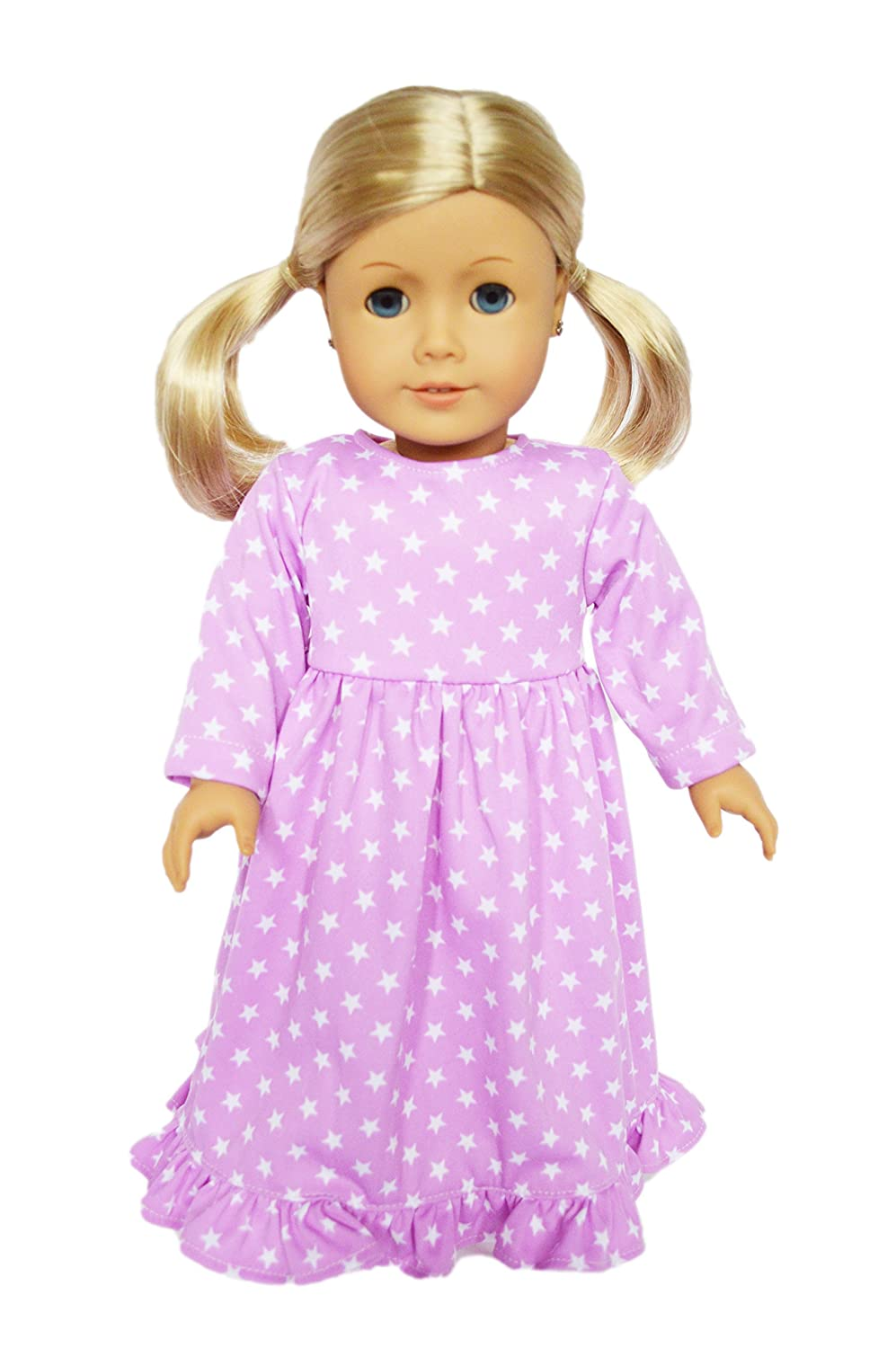 My Brittany's Lavender Star Nightgown for 18 Inch American Girl Dolls Brittany' s