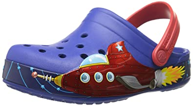 4a8c90aa39453 crocs Crocband Galactic Boys Clog in Blue  Buy Online at Low Prices in  India - Amazon.in