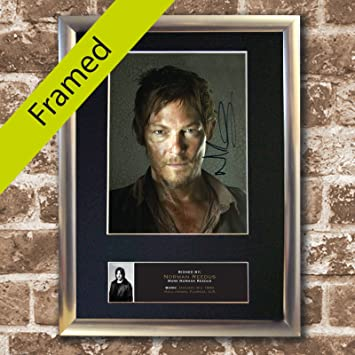 Amazon Norman Reedus The Walking Dead Silver Framed Photo Print