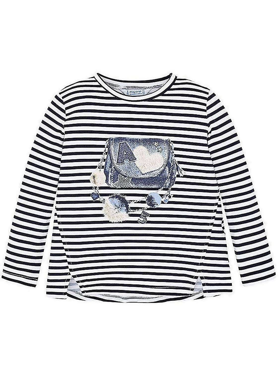 4014 L//s Printed t-Shirt for Girls Mayoral Navy