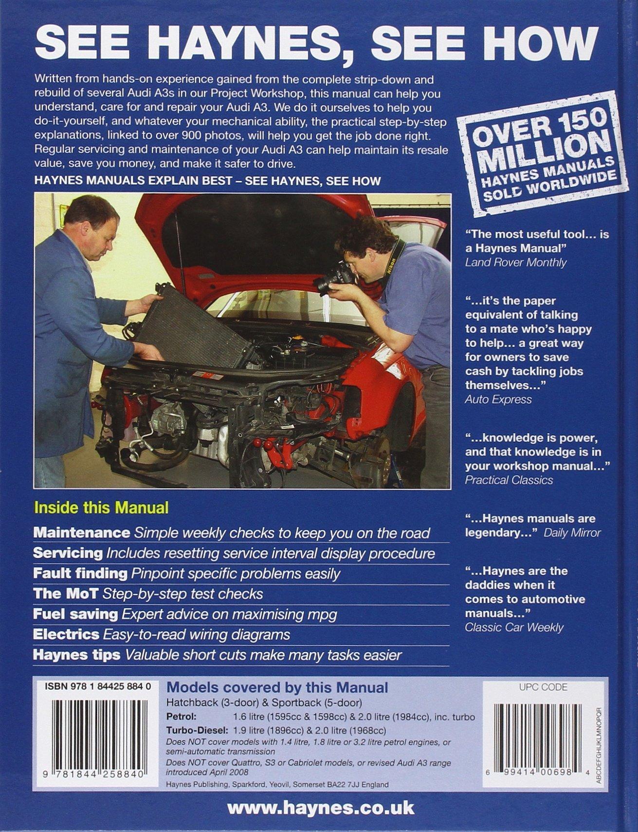 Audi A3 8p Haynes Manual Pdf