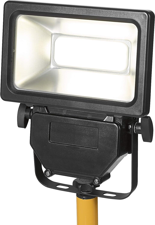 Baulampe mit schwenkbarem Leuchktopf A LED-Baustrahler Stativ 10 W EEK