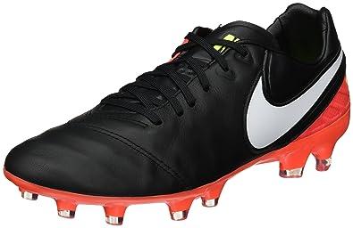 NIKE Men's Tiempo Legacy II Leather FG Soccer Cleat (SZ. 8.5) Black,