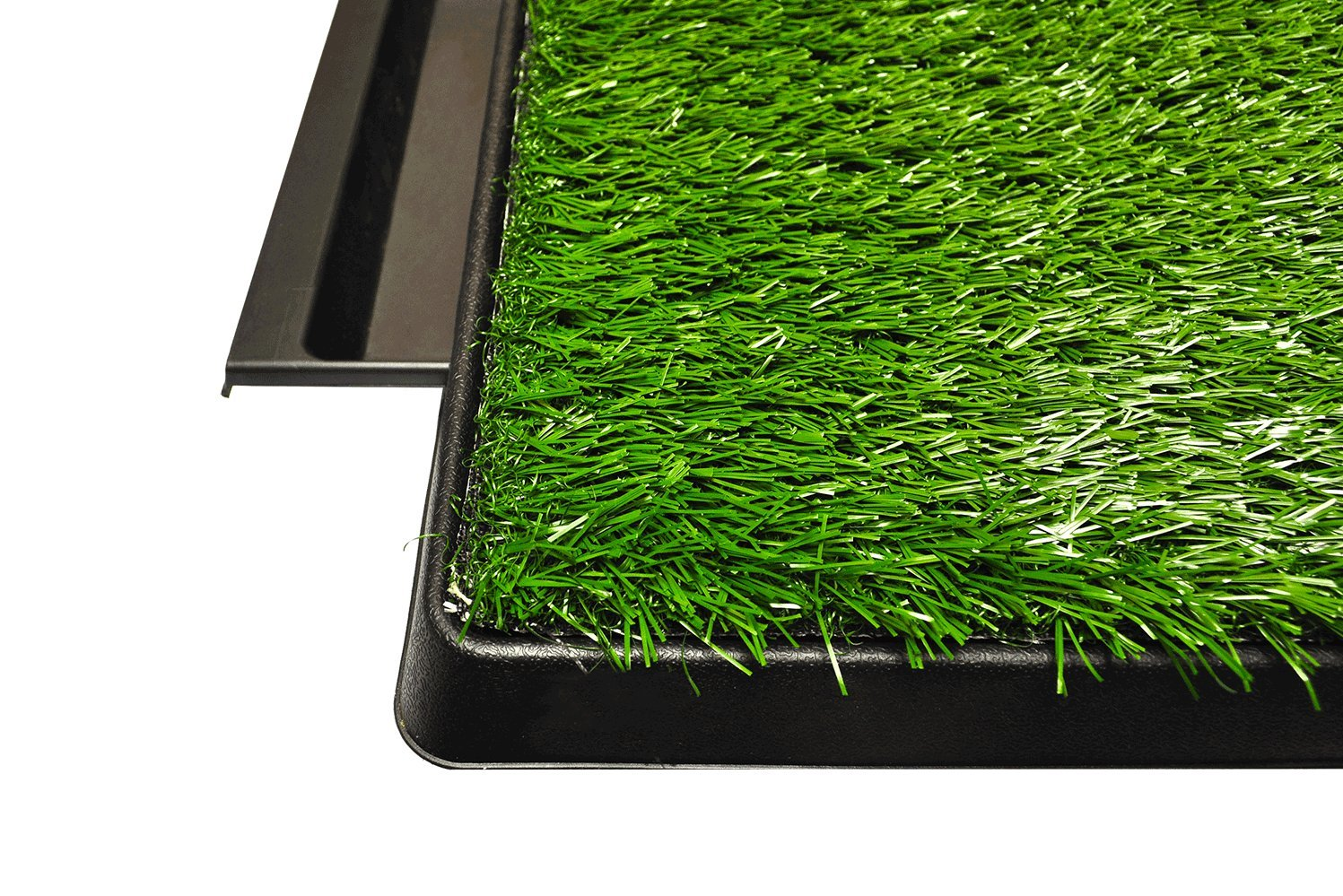 Downtown Pet Supply Dog Pee Potty Pad, Bathroom Tinkle Artificial Grass Turf, Portable Potty Trainer (20 x 25 inches with Drawer) by Downtown Pet Supply (Image #5)