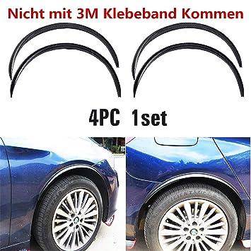 4X Auto Radlauf Kotflügel Verbreiterung Schutz Leisten Kohlefaser Gummi Streifen Auto & Motorrad: Teile