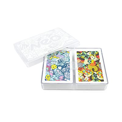 Copag Neo Nonsense 100% Plastic Playing Cards, Bridge Size, Jumbo Index: Sports & Outdoors