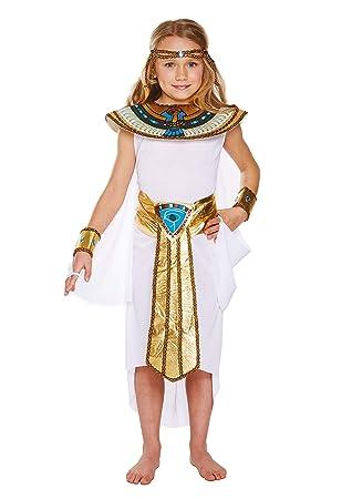 Disfraz infantil egipcio Niña Pequeño 4-6 AÑOS