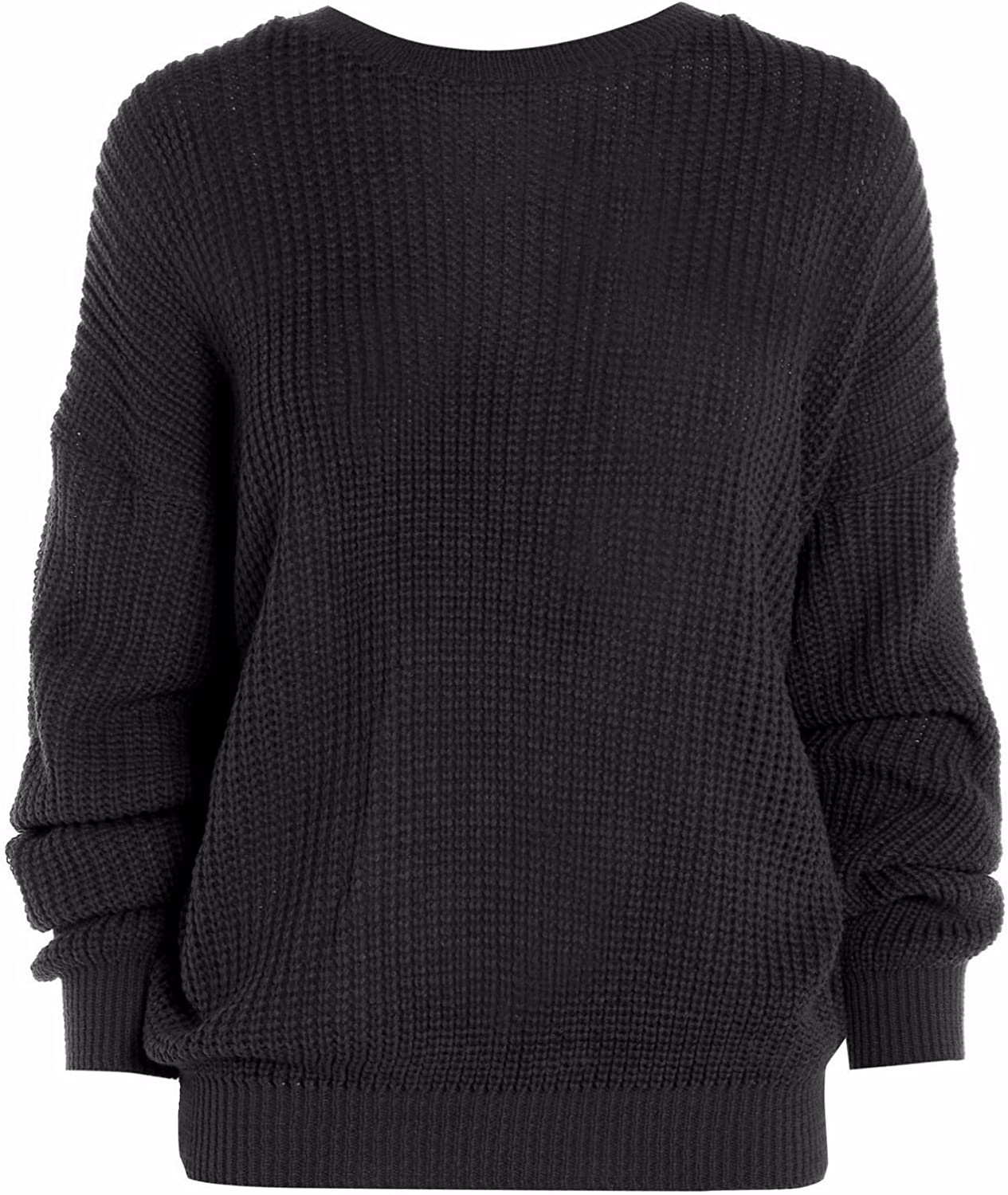 PURL Womens Oversized Baggy Chunky Knitted Jumper Pullover