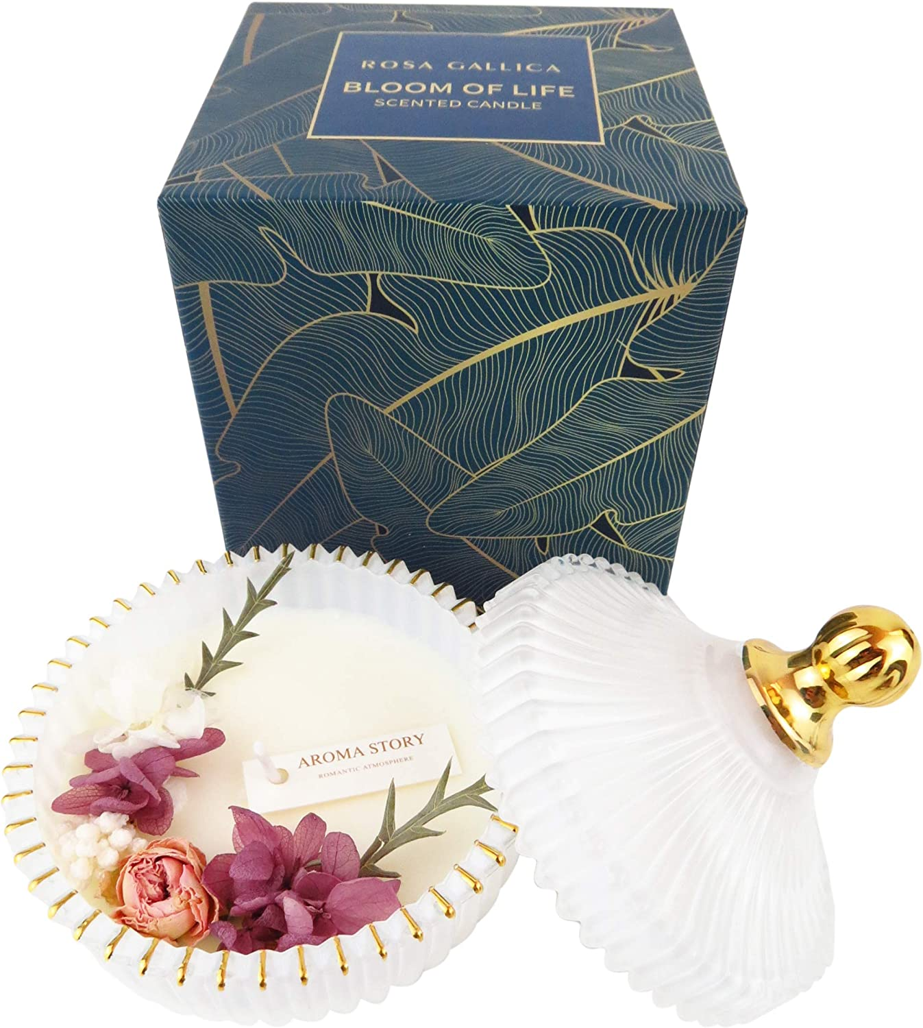 ROSA GALLICA Scented Candle,Aromatherapy Candle Set for Home, A Nice House Decor or Just as Candle Gift for Women. for Mother's Day, Anniversary, Thank You Gift or House Warming Present. (Sunny Rose)