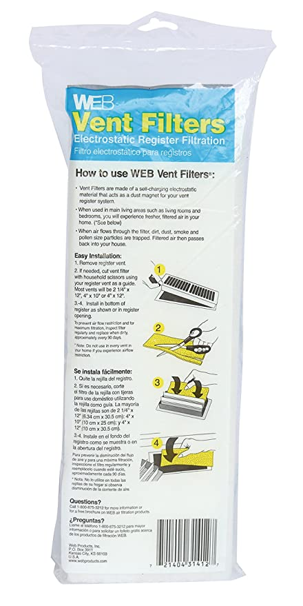 Vent Register Filters