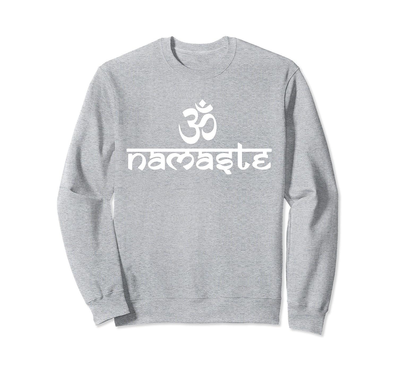 Om Namaste Sanskrit Hindu Om Symbol Yoga Sweatshirt Prm Paramatee