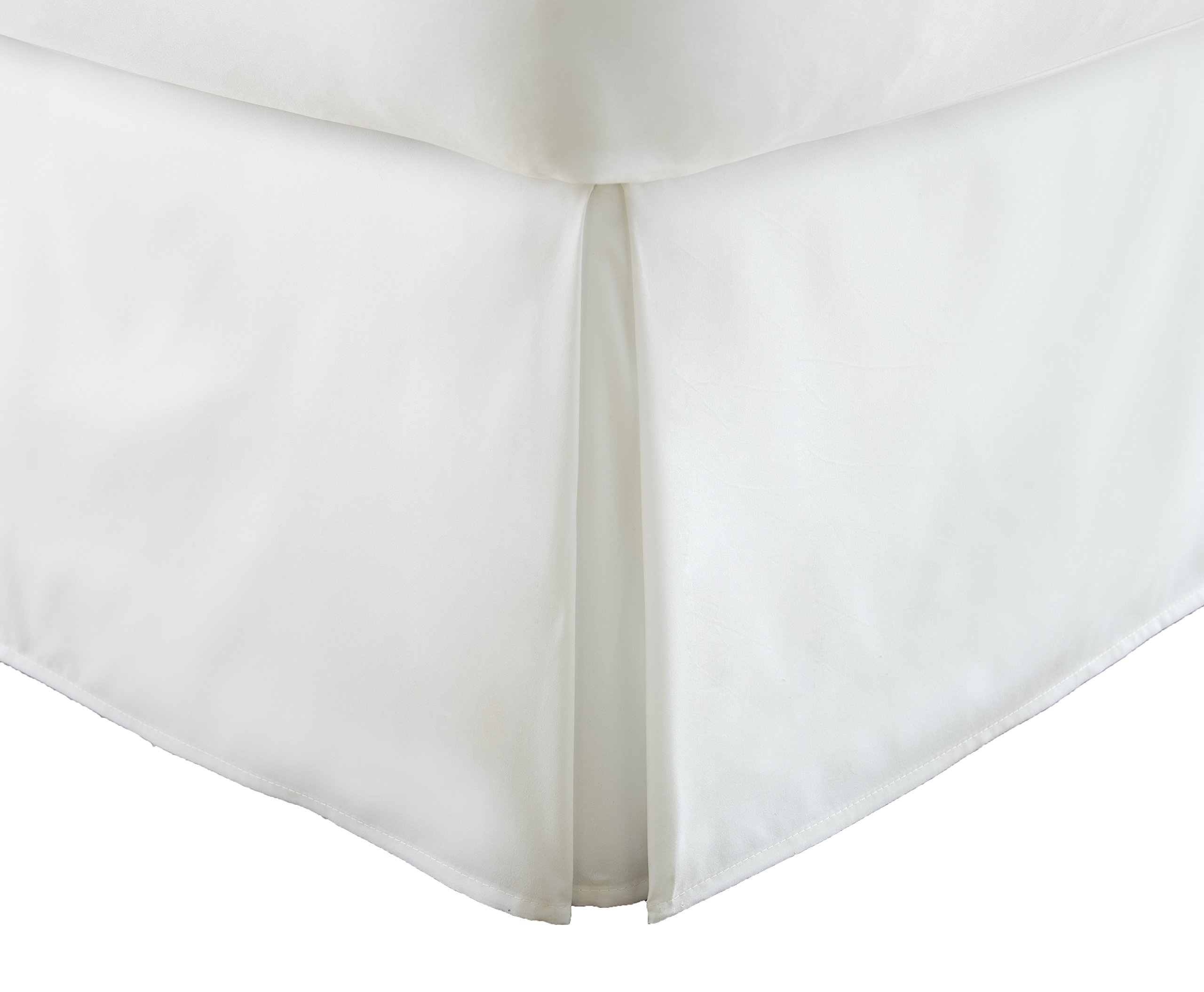 Becky Cameron Pleated Bed Skirt, Twin, White by Becky Cameron