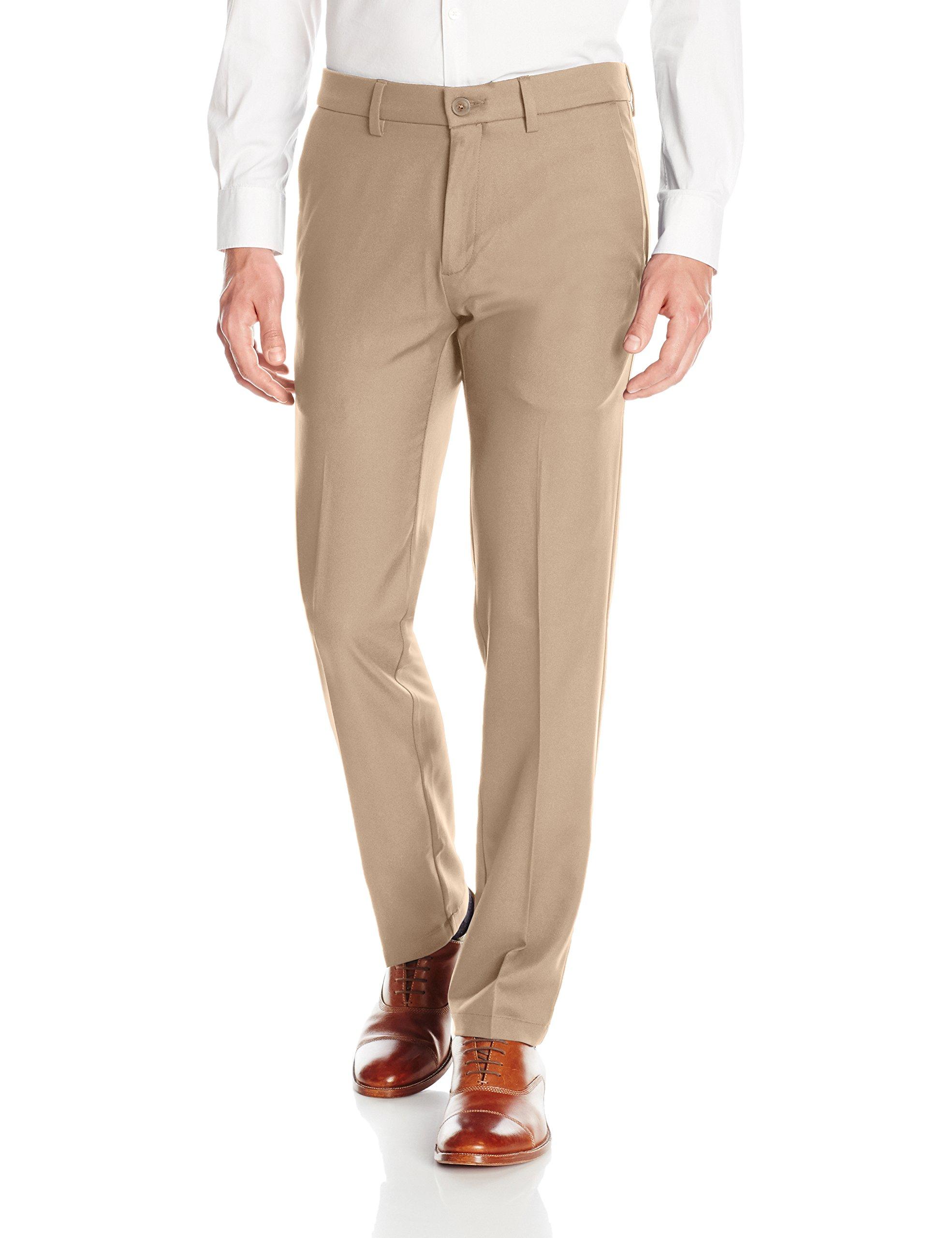 3b68cebd7c7 Haggar Men s Cool 18 Pro Straight Fit Flat Front Superflex Waistband Pant