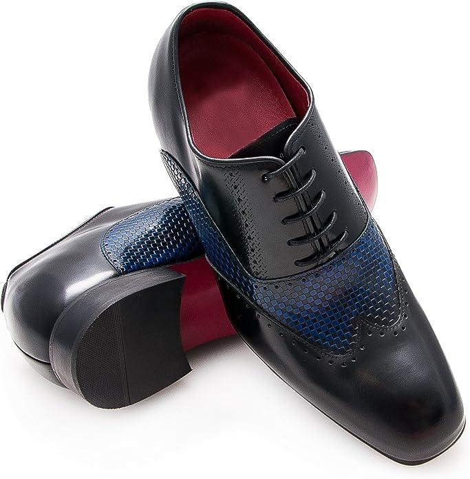 TALLA 39 EU. Zerimar Zapatos con Alzas Hombre  Zapatos de Hombre con Alzas Que Aumentan su Altura + 7 cm Zapatos con Alzas para Hombres   Zapatos Hombre Vestir   Fabricados en España