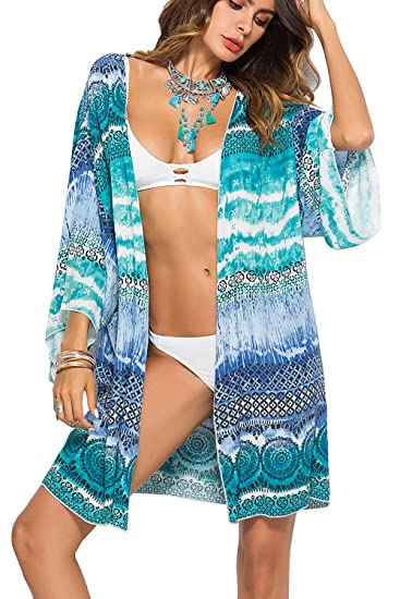 Romantic Lydia Kimono Cardigan Swimsuit Cover Up Beach Coverups For