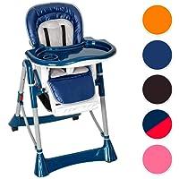 TecTake Trona para niños con bandeja y bebés naranja de altura regulable - disponible en diferentes colores -