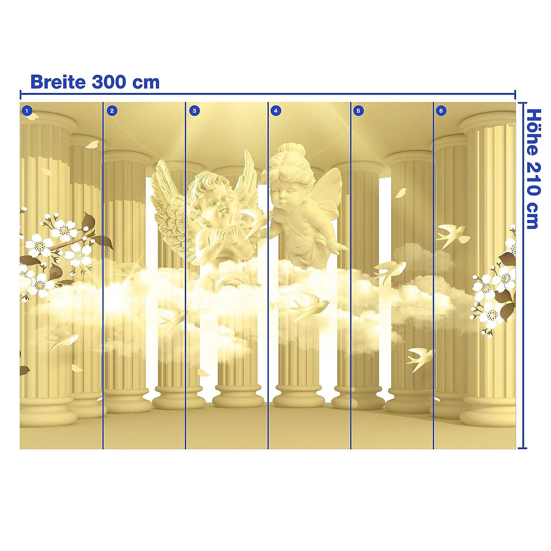 Wandmotiv24 Fototapete Säulen Engel Blaumen Sepia Wolke 3D Säule antik antik antik Raum Erweiterung mystisch M1854 XXL 400 x 280 cm - 8 Teile Wandbild - Motivtapete B07NKTWGZQ Wandtattoos & Wandbilder 2130a0