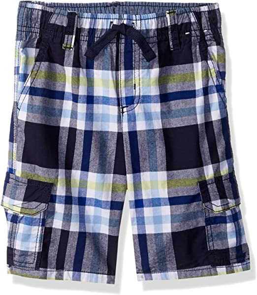 Ouxioaz Boys Swim Trunk Red Blue Checkered Beach Board Shorts