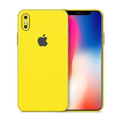 cheaper 0bb38 42092 AlienJacket - iPhone X 3M Vinyl Textured Skin Wrap (Solid Texture - Yellow)