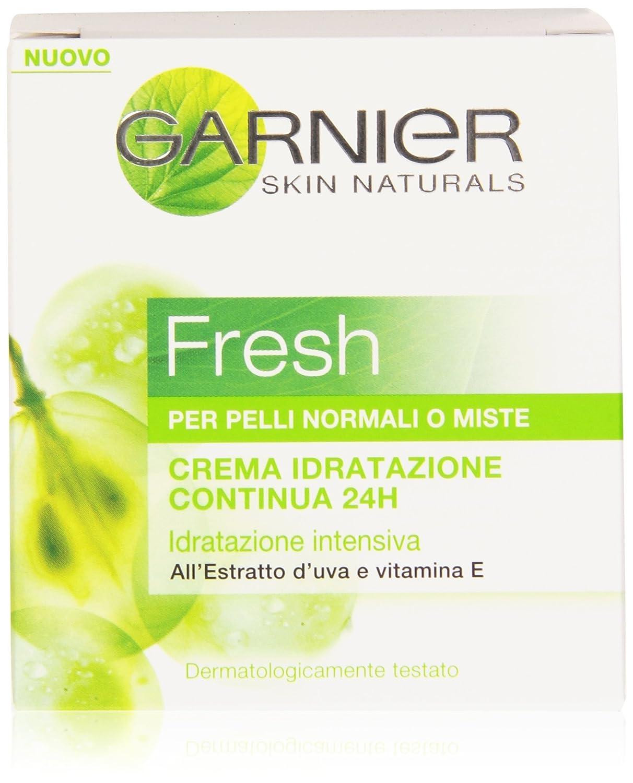 Garnier Fresh Crema Idratazione Continua e Intensiva 24H per Pelli Normali o Miste, Pelle Idratata Tutto il Giorno, 50 ml C5070200